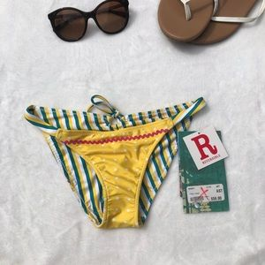 AARON CHANG Reversible yellow bikini bottoms XS